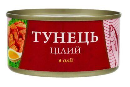 Тунець Fish Line цілий в олії 0.185 кг, пак