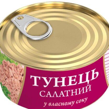 Тунець Fish Line салатний у власному соку 0.185 кг, пак