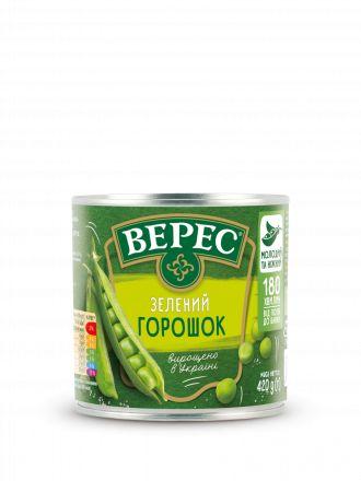 Горошок зелений ВЕРЕС ж/б 0,420 кг, пак