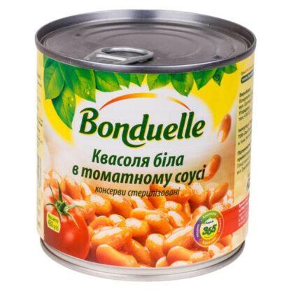 Квасоля біла в томатному соусі ТМ Bonduelle ж/б 0,430 кг