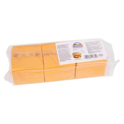 Сир плавлений БІСТРО (скибочками) Чеддер Hochland 1,033 кг / 84 слайси, пак