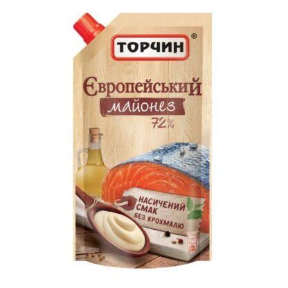 Майонез Європейський 72% ТМ Торчин д/п 0,580 кг