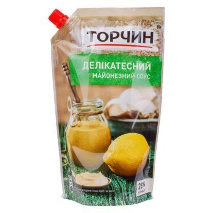 Майонезний соус Делікатесний 28% ТМ Торчин д/п 0,580 кг