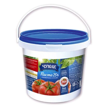 Томатна паста з сіллю ТМ ЧУМАК відро 1 кг