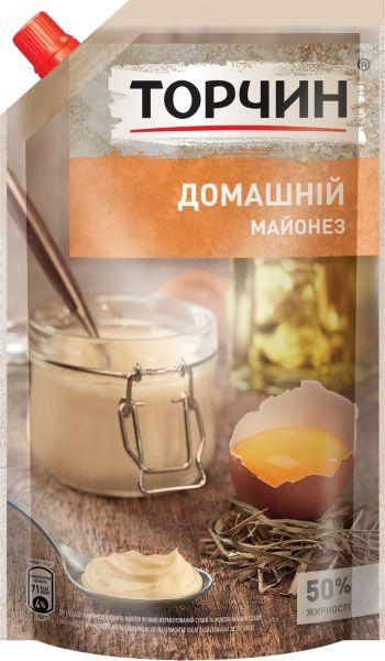 Майонез Домашній 50% ТМ Торчин д/п 0,580 кг