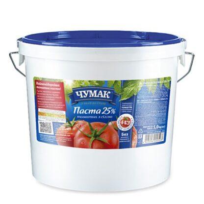 Томатна паста з сіллю ТМ ЧУМАК відро 5 кг