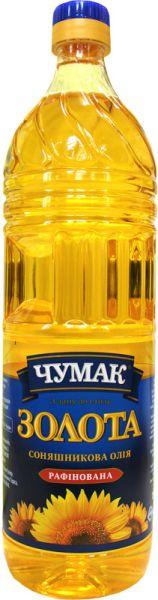 Олія соняшникова рафінована ТМ ЧУМАК 0,9 л