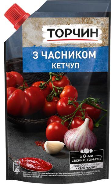 Кетчуп З часником ТМ Торчин д/п 0,270 кг