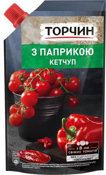 Кетчуп З паприкою ТМ Торчин д/п 0,270 кг