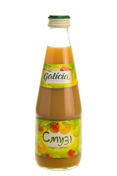 Смузі Галіція яблуко-груша-персик скло 0,3 л