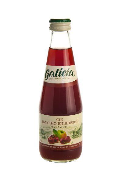 Сік Галіція яблучно-вишневий скло 0,3 л