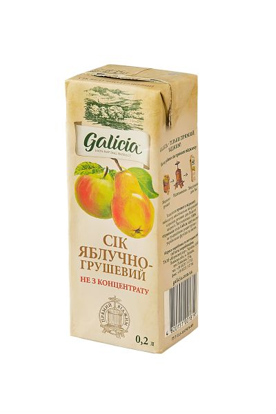 Сік Галіція яблучно-грушевий т/п 0,2 л