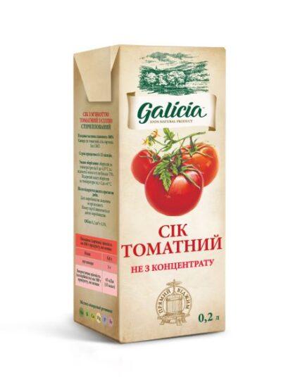 Сік Галіція томатний т/п 0,2 л
