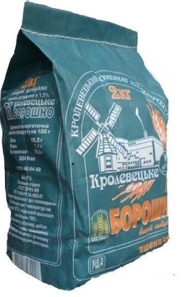 Борошно фас 2кг Кролевецьке, кг