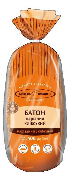 Батон Нарізний київський КИЇВХЛІБ 0,250 кг
