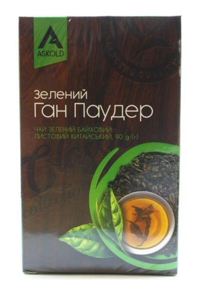 Чай Аскольд зелений листовий 90 г, шт
