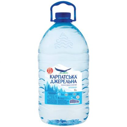 Вода мінеральна Карпатська джерельна негазована ПЕТ 6 л, пак