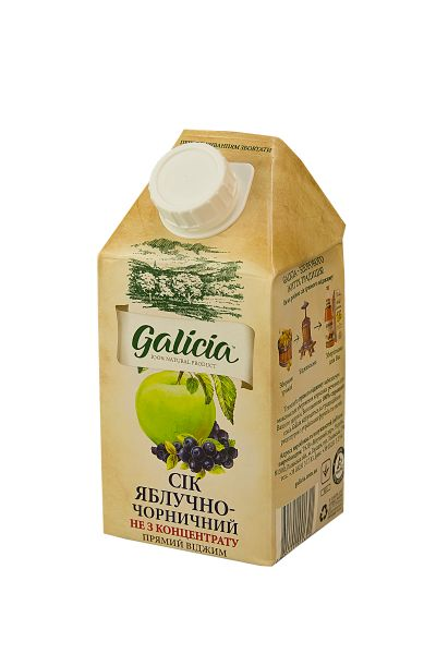 Сік Галіція яблучно-чорничний TGA 0,5 л