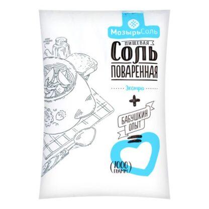 Сіль екстра Полісся ТМ Мозирсіль 1 кг, пак