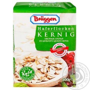 Пластівці вівсяні Bruggen Hafer-flocken Kernig 0,5 кг, пак