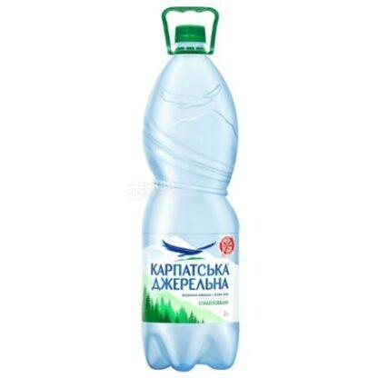 Вода мінеральна Карпатська джерельна слабогазована ПЕТ 2.000 л., пак