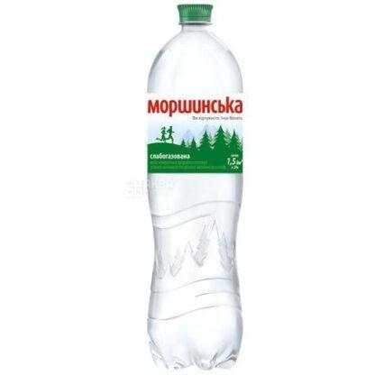 Вода мінеральна Моршинська слабогазована ПЕТ 1.500 л., пак