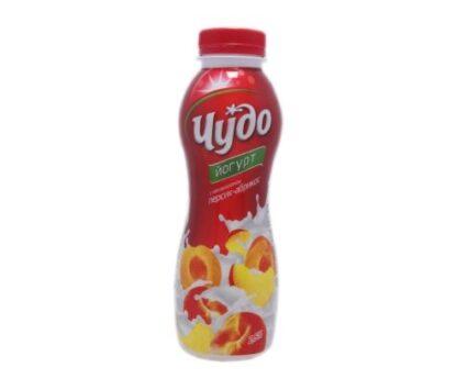 Йогурт ЧУДО з наповнювачем персик-абрикос 2,5% 0.270 кг, пак