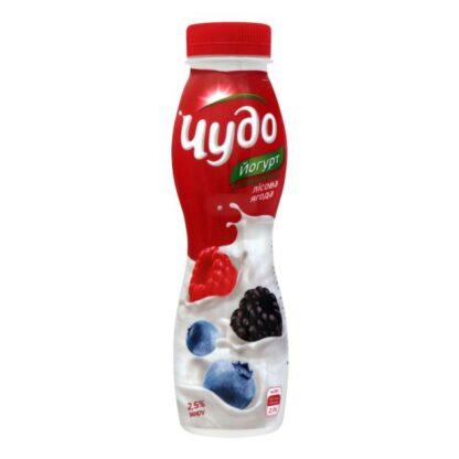 Йогурт ЧУДО з наповнювачем лісова ягода 2,5% 0.270 кг, пак