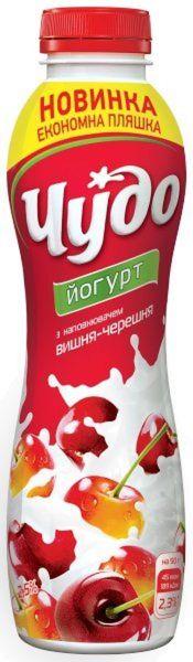 Йогурт ЧУДО з наповнювачем вишня-черешня 2,5% 0.270 кг, пак