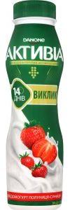 Біфідойогурт DANONE АКТИВІА полуниця-суниця 1,5% 0.290 кг, пак