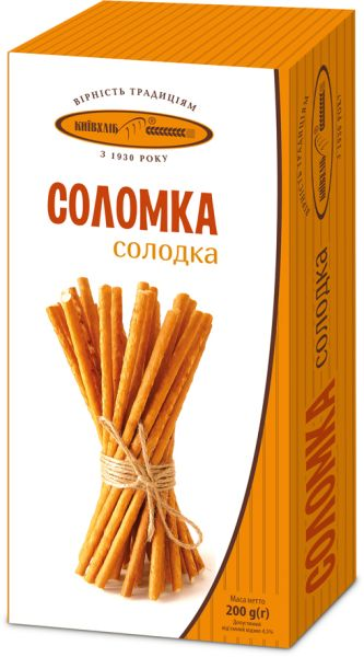 Соломка Київхліб солодка 0.200 кг, пак