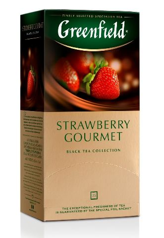 Чай Greenfield чорний Strawberry Gourmet 25шт*1.5г 0.037 кг, пак