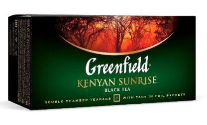 Чай Greenfield чорний Kenyan Sunrise 25шт*2г 0.050 кг, пак