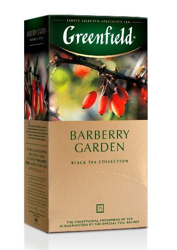 Чай Greenfield чорний Barberry Garden 25шт*1.5г 0.037 кг, пак