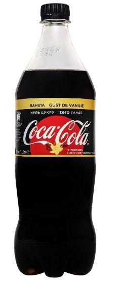 Напій Coca-Cola газований Zero Vanilla ПЕТ 1.000 л., пак