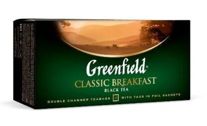 Чай Greenfield чорний Classic Breakfast 25шт*2г 0.050 кг, пак