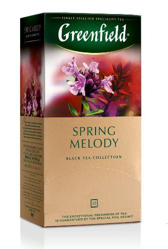 Чай Greenfield чорний Spring Melody 25шт*1.5г 0.037 кг, пак