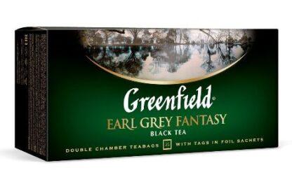 Чай Greenfield чорний Earl Grey Fantasy 25шт*2г 0.050 кг, пак