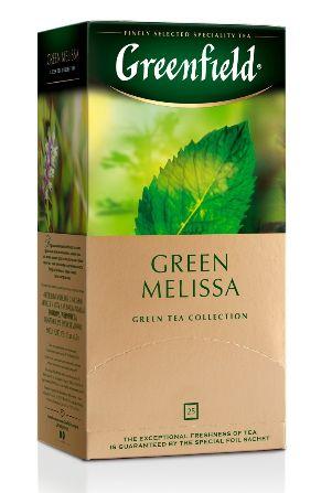 Чай Greenfield зелений Green Melisa 25шт*1.5г 0.037 кг, пак