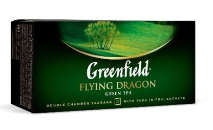 Чай Greenfield зелений Flying Dragon 25шт*2г 0.050 кг, пак