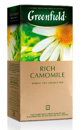 Чай Greenfield трав'яний Rich Camomile 25шт*1.5г 0.037 кг, пак