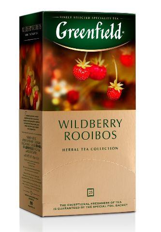 Чай Greenfield трав'яний Wildberry Rooibos з шматочками суниці та журавлини 25шт*1.5г 0.037 кг, пак