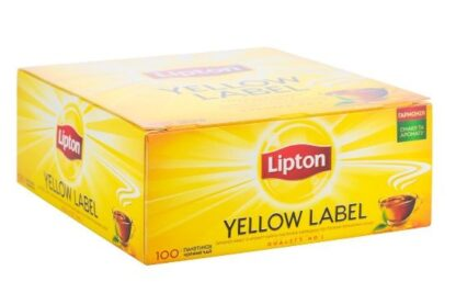 Чай Lipton чорний Yellow Label 100шт*2г 0.200 кг, пак