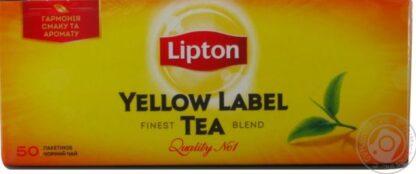 Чай Lipton чорний Yellow Label 50шт*2г 0.100 кг, пак