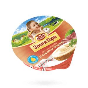 Сир плавлений кремовий Звени Гора зі смаком бекону 0.090 кг, пак