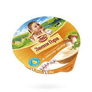 Сир плавлений кремовий Звени Гора зі смаком грибів 0.090 кг, пак