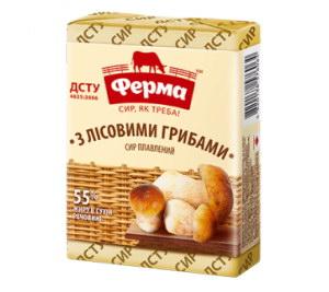 Сир плавлений ФЕРМА з лісовими грибами 55% 0.090 кг, пак