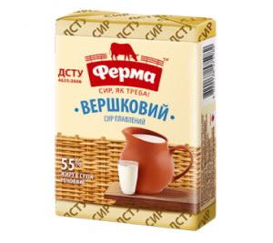 Сир плавлений ФЕРМА вершковий 55% 0.090 кг, пак