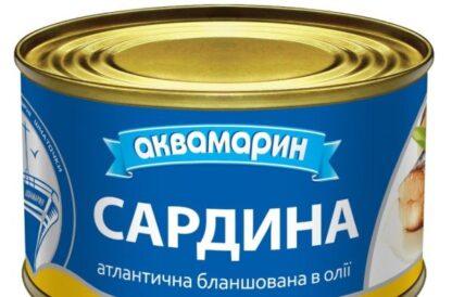 Сардина АКВАМАРИН атлантична бланшована в олії 0.230 кг, пак