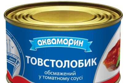 Товстолобик АКВАМАРИН обсмажений у томатному соусі 0.230 кг, пак